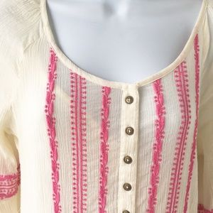 Free people Embroidered Boho dress